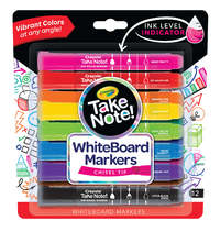 Crayola: Take Note - Chisel Tip Whiteboard Markers - 8 Colours (12 Pack) image