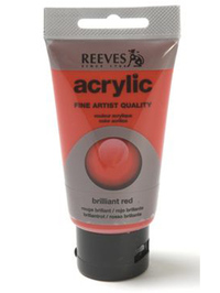 75ml Reeves Fine Acrylic - Brilliant Red