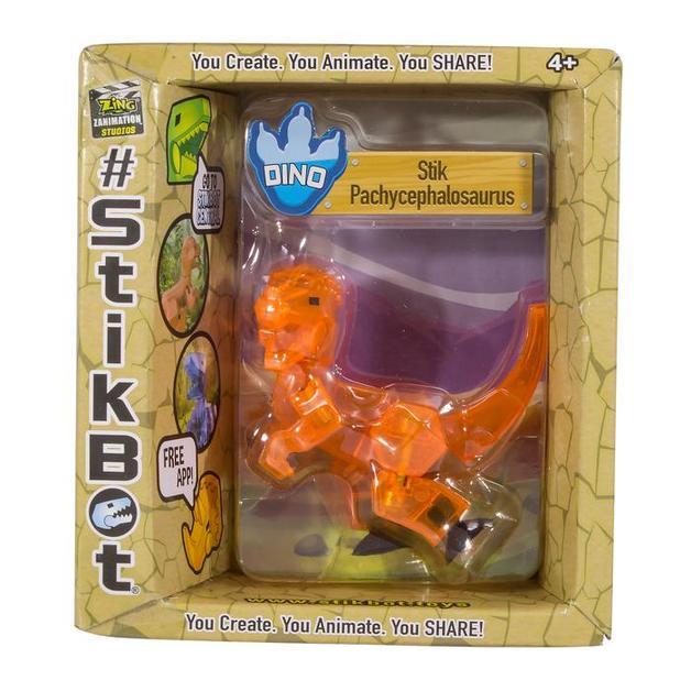 Stikbot: Dino Single - Pachycephalosaurus (Orange)