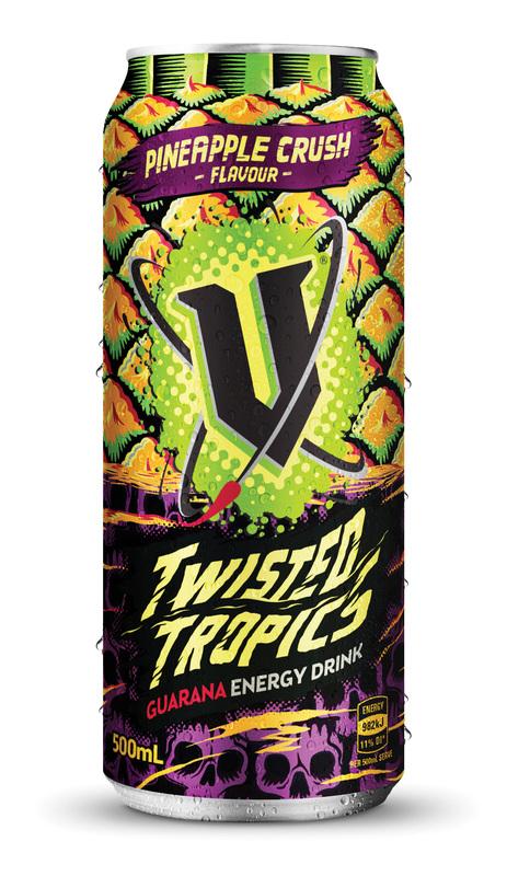 V Twisted Tropics 500ml (12 pack)