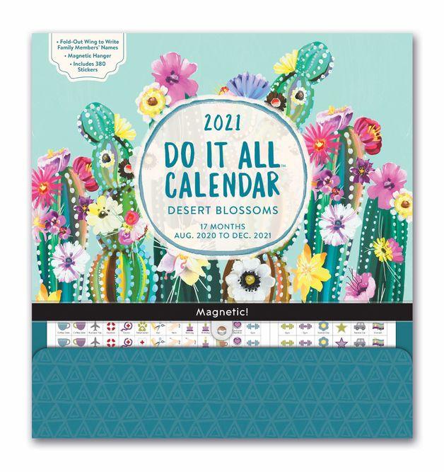 Orange Circle Studio: Do It All Calendar 2021 - Desert Blossoms