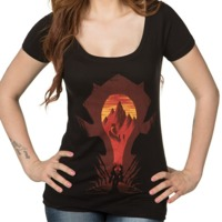World of Warcraft Horde Silhouette Women's Scoop T-Shirt (Medium)