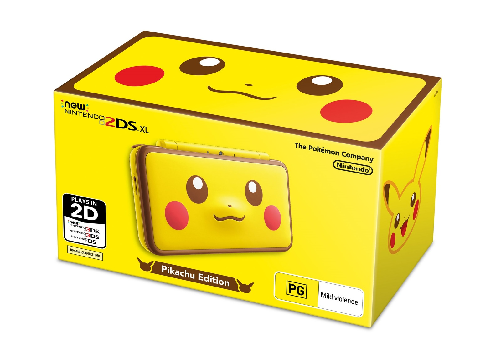 new nintendo 2ds xl pokemon pikachu edition console