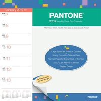 Pantone 2019 Weekly Desk Pad Desk Calendar