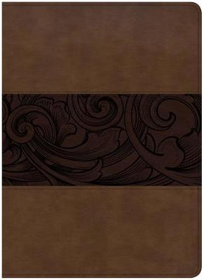 CSB Study Bible, Large Print Edition, Mahogany LeatherTouch, Indexed by Csb Bibles by Holman