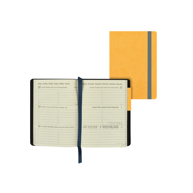 Legami: Mini Weekly 12 Month 2021 Diary - Yellow (8 x 11cm)