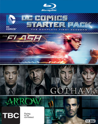 DC Comics Starter Pack - Season 1 of Arrow, Flash and Gotham on Blu-ray