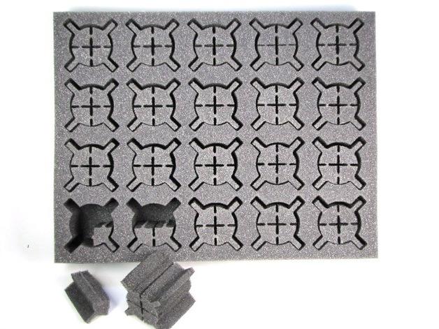 """Battle Foam: Iso Troops & Characters - Medium/Large Foam Tray (BFL - 2.5"""")"""