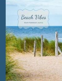 Blue Sea, White Sand & Beach Vibes Blank Notebook Journal by Ahri's Notebooks & Journals