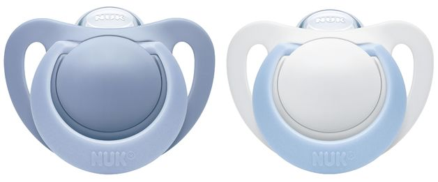 NUK: Genius Silicone Soother - 0-2 Months Blue (2 Pack)