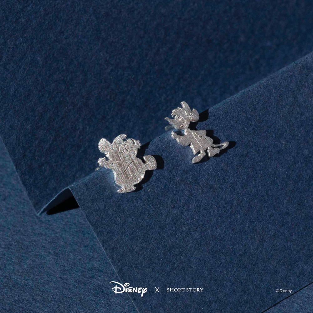 Short Story: Disney Earring Cinderella Jaq and Gus - Silver image