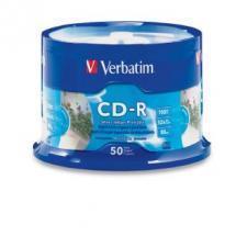 Verbatim CD-R 700MB 50Pk Silver InkJet 52x