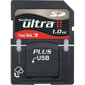 SanDisk SD Plus Ultra II 1024MB (1GB) Memory image