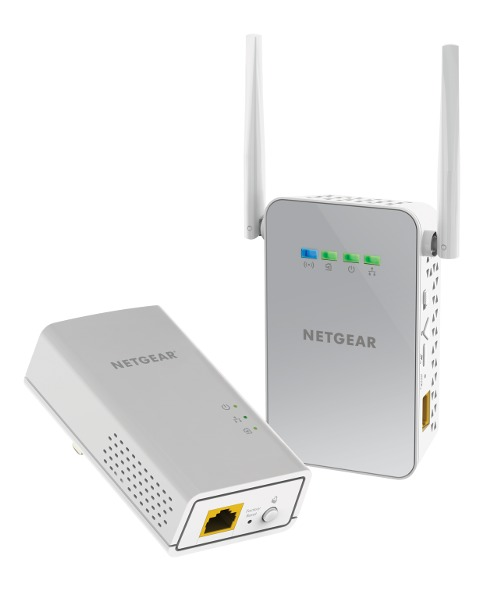 Netgear: PLW1000 Powerline WiFi 1000 (1 x PL1000, 1 x PLW1000 Access Point)