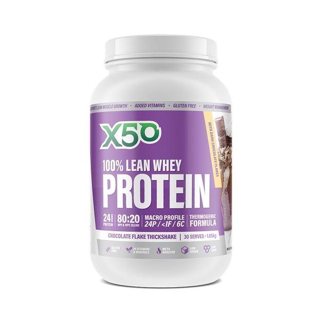 Green Tea X50: 100% Lean Whey Protein - Chocolate Flake (1kg)
