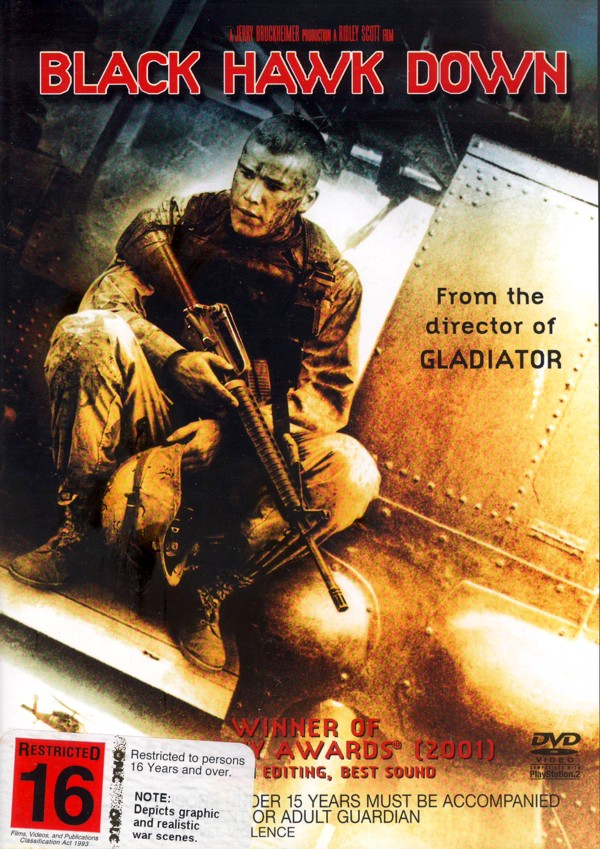 Black Hawk Down on DVD image