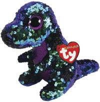 TY Beanie Boo: Flip Crunch Dinosaur - Small Plush