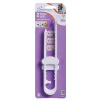 Dreambaby Sliding Locks With Catch - White (2 Pack)