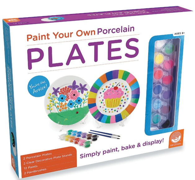 Mindware Create: Paint Your Own - Porcelain Plates