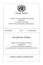 Treaty Series 2853 (English/French Edition)