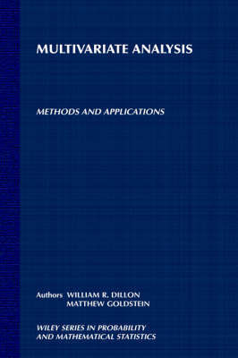 Multivariate Analysis by William R. Dillon image