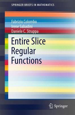 Entire Slice Regular Functions by Fabrizio Colombo image