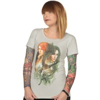 The Witcher 3 Yenni and Triss Women's Tee (2X-Large)