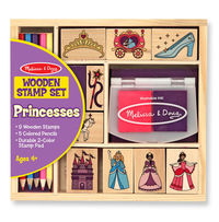 Melissa & Doug: Wooden Princess Stamp Set