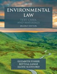 Environmental Law by Elizabeth Fisher