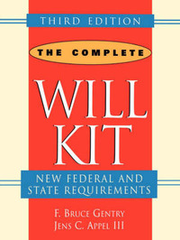 The Complete Will Kit by F.Bruce Gentry image