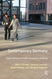 Contemporary Germany by Mark Allinson image