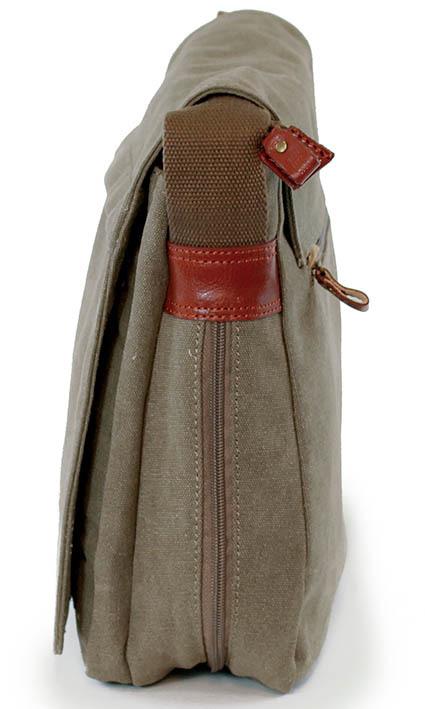 Troop London: Classic Flap Front Messenger Bag - Brown image