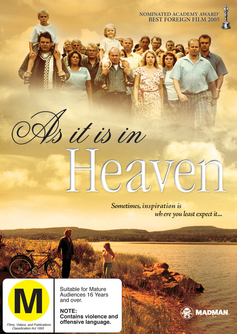 As It Is In Heaven on DVD image