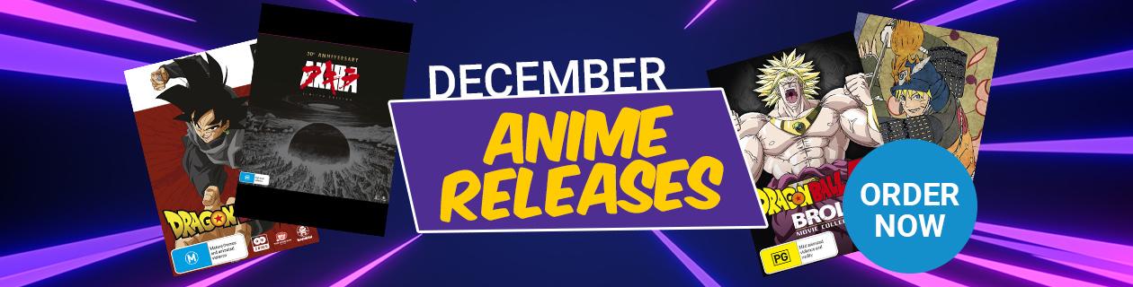 New Anime Releases for December!