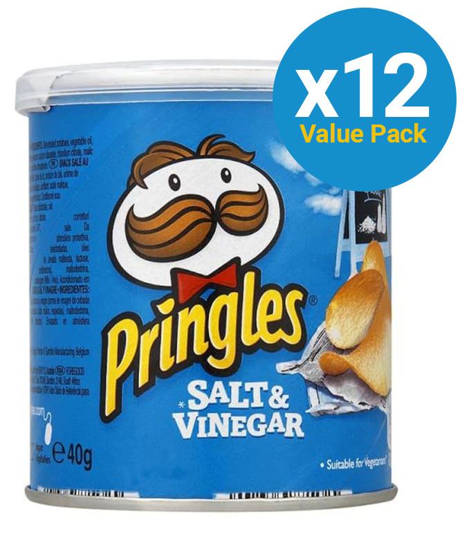 Pringles Grab & Go Small Salt & Vinegar 40g (12 Pack) image