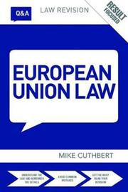 Q&A European Union Law by Michael Cuthbert image