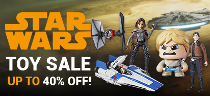 Up to 40% off Hasbro Star Wars Toys!