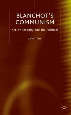 Blanchot's Communism by Lars Iyer image