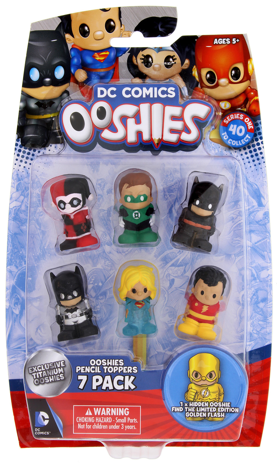 ooshies justice league 7 pack images at mighty ape nz. Black Bedroom Furniture Sets. Home Design Ideas