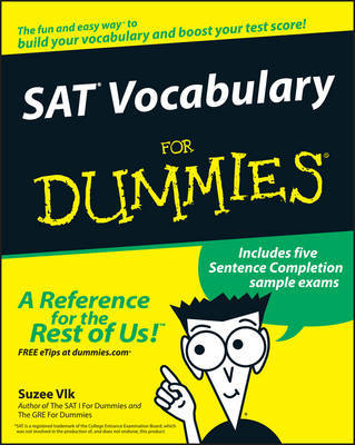 SAT Vocabulary For Dummies by Suzee J. Vlk