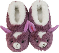 Slumbies Llama Furry Foot Pals Slippers (S)
