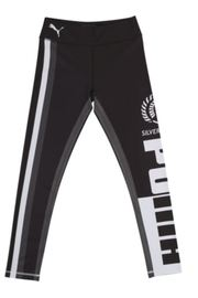 Puma Silver Ferns Youth Training Tights Black/White (128)