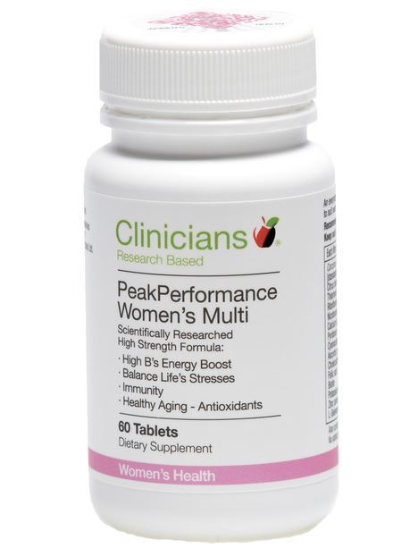 Clinicians Peak Performance Women's Multi Vitamin (60 Tablets)