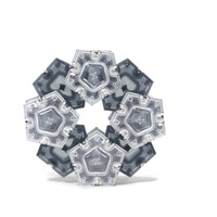 Speks Geode Magnetic Pentagons - Slate