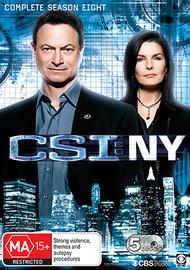 CSI NY - Season 8 on DVD
