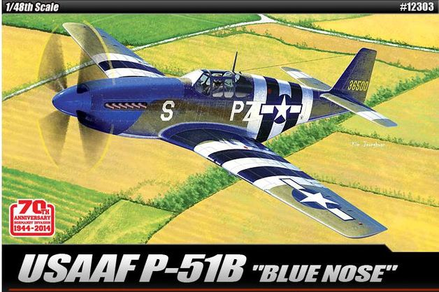 "Academy USAAF P-51B ""Blue Nose"" 1/48 Model Kit"