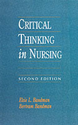 Critical Thinking in Nursing by Elsie L. Bandman image
