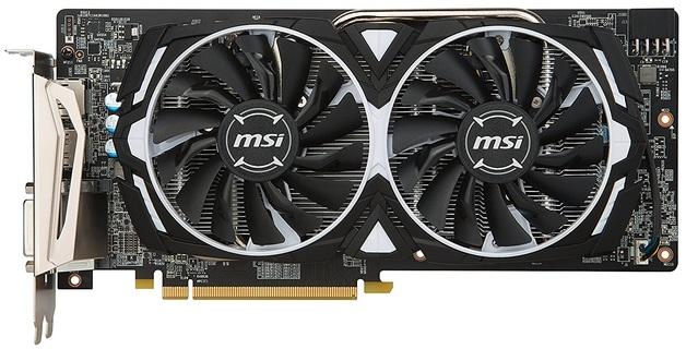 MSI Radeon RX 580 8GB Armour OC Graphics Card