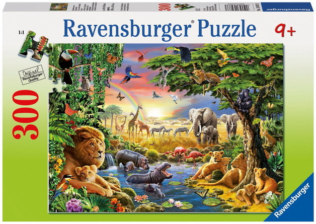 Ravensburger 300 Piece Jigsaw Puzzle - At the Watering Hole