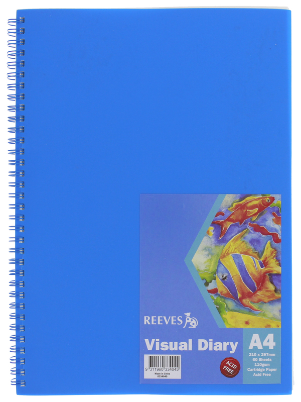 Reeves A4 Visual Diary - Blue